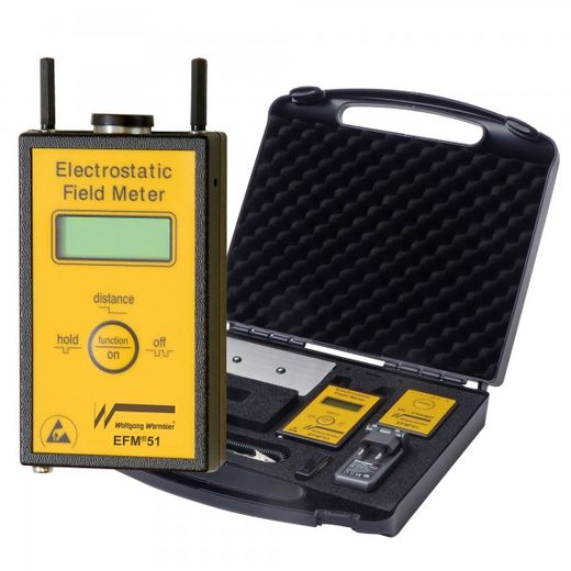Electric field meter EFM® 51 with charged plate set