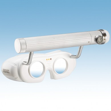 Otsalamppu LED Nystagmus spectacles white